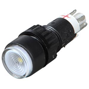 Button, 24 V, 0.5 A, 1 NC/1 NO, Ø 9.1 mm, LED, clear RAFI 1.15.106.505/1000