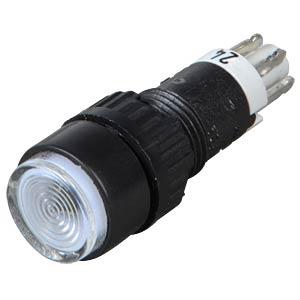 Button, 24 V, 0.5 A, 1 NC/1 NO, Ø 9.1 mm, bulb, clear RAFI 1.15.106.021/1002