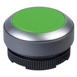 FS+ 22 - Push-Button - Metal, Green, Can be Illuminated RAFI 1.30.270.031/2500
