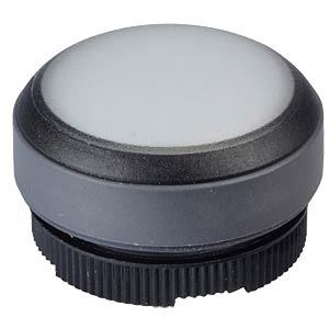 FS+ 22 - Push-Button - Round + Protective Cap, Black/White, Can RAFI 1.30.270.005/2201
