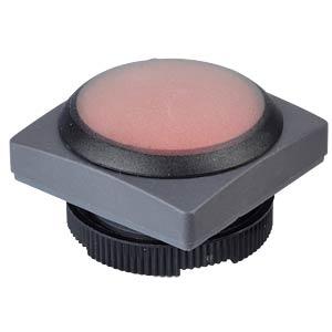 FS+ 22 - Drucktaster - quadrat + Schutzkappe, sw/rt, bel RAFI 1.30.270.055/2301