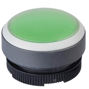 FS+ 22 - Push-Button - Round + Protective Cap, Silver/Green, Can RAFI 1.30.270.005/2508