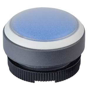 FS+ 22 - Push-Button - Round + Protective Cap, Silver/Blue, Can RAFI 1.30.270.005/2608