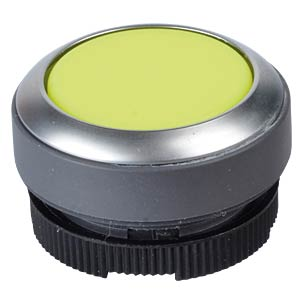 FS+ 22 — push-button switch — metal, yellow, can be illuminated, RAFI 1.30.270.231/2400