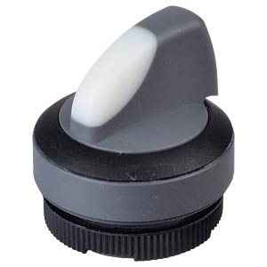 FS+ 22 — selector switch — round, black, 1x90°, V-type, can be i RAFI 1.30.272.201/2201