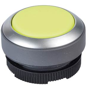 FS+ 22 — push-button — metal, yellow, can be illuminated, protru RAFI 1.30.270.221/2400