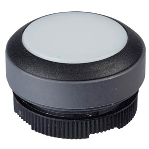 FS+ 22 — push-button — round, black/white, can be illuminated RAFI 1.30.270.001/2201