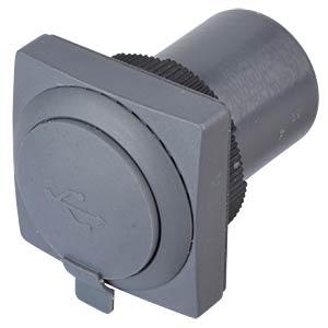 FS+ 22 - USB-Durchführung - quadrat, schiefergrau RAFI 1.30.279.051/0707