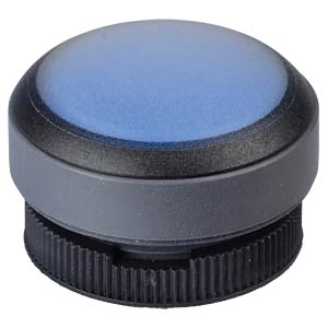 FS+ 22 - Push-Button - Round + Protective Cap, Black/Blue, Can b RAFI 1.30.270.005/2601