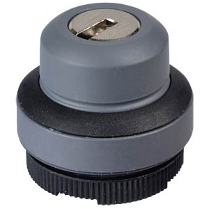 FS+ 22 - Key Switch - Round, Black, 1x90°, L-Shaped, 0+1 RAFI 1.30.275.221/0100