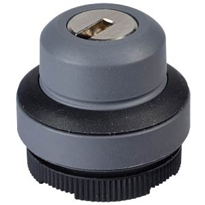 FS+ 22 — key-operated switch — round, black, 1x90°, V-type, 0+1 RAFI 1.30.275.321/0100