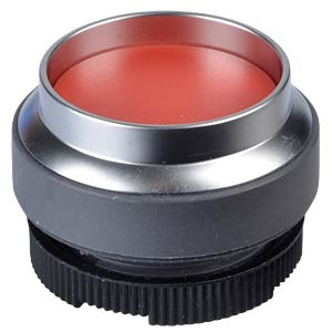 FS+ 22 — push-button switch — metal, red, can be illuminated, pr RAFI 1.30.270.421/2300
