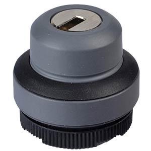 FS+ 22 - Key Switch - Round, Black, Locking 1x90° + Spring-Retur RAFI 1.30.275.501/0100
