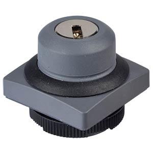 FS+ 22 - Schlüsselschalter - quadrat, sw, 1x90°, Form V, 0+1 RAFI 1.30.275.371/0100