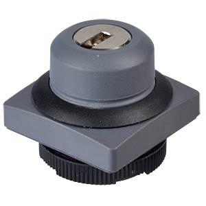 FS+ 22 - Schlüsselschalter - quadrat, sw, 1x90°, Form L, 0+1 RAFI 1.30.275.271/0100