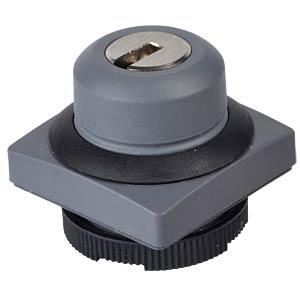 FS+ 22 - Schlüsseltaster - quadrat, sw, 2x40° RAFI 1.30.275.151/0100