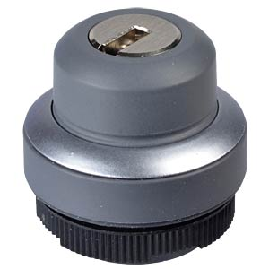 FS+ 22 — key-operated switch — round, metal, 1x40° RAFI 1.30.275.002/0000