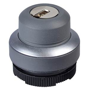 FS+ 22 - Key Switch - Round, Metal, 1x90°, L-Shaped, 0+1 RAFI 1.30.275.222/0000