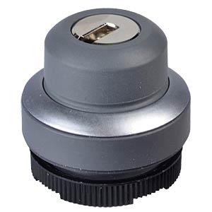 FS+ 22 - Schlüsselschalter - rund, metall, 1x90°, Form L, 0+1 RAFI 1.30.275.222/0000