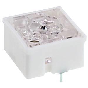 Short-travel keyswitch, RF 15, 50 V AC/DC, silver, transparent RAFI 3.14.100.006/0000