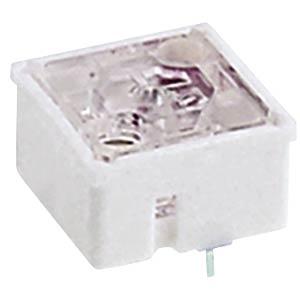 Short-travel keyswitch, RF 15, 35 V AC/DC, gold, 1 LED, green RAFI 3.14.100.032/0000