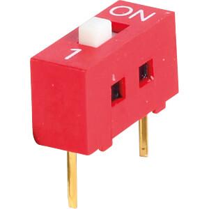 Dip-Schalter, Printmontage, liegend, 1-polig RND COMPONENTS RND 210-00162