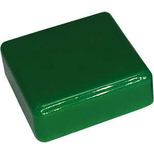 RND 210-00237 - Kappe grün quadratisch 12 x 12 x 4,0 mm