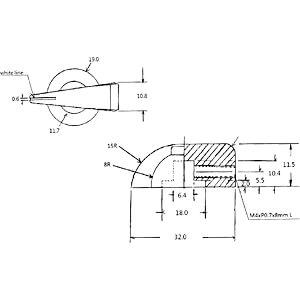 Potentiometerknopf für Achse Ø 6,4 mm, schwarz RND COMPONENTS RND 210-00269