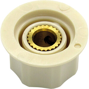 Kunstoff-knopf, Ø 25,3 mm, Achse: 6,4mm  ws RND COMPONENTS RND 210-00279