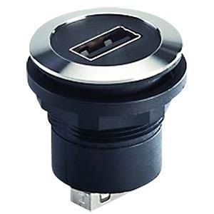 USB 2.0-Buchse auf Buchse - Typ A, Edelstahl SCHLEGEL RRJVA USB AA