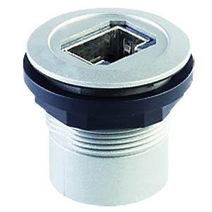 RJ45-Buchse auf Kabelstecker - silber SCHLEGEL RRJ RJ45