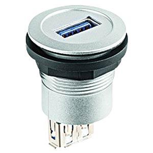USB 3.0-Buchse auf Buchse - Typ A, Edelstahl SCHLEGEL RRJVA USB3 AA633