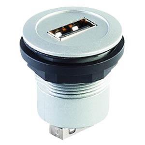 USB 2.0-Buchse auf Buchse - Typ A, silber SCHLEGEL RRJ USB AA