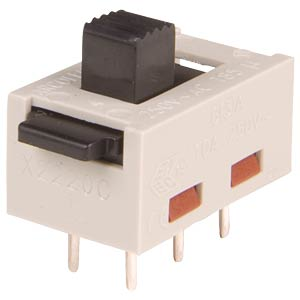 Slide switch 2 x ON–ON–ON ARCOLECTRIC X23200AAAB