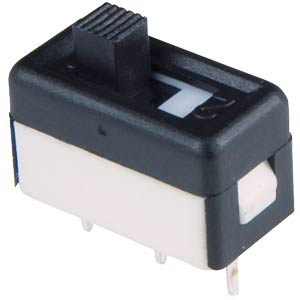 Slide switch, straight, RM 2,54, 1 ON - ON APEM 25136NAH