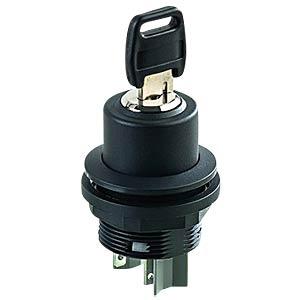 Schlüsselschalter - 1 S, schwarz SCHLEGEL SSWSSA16I
