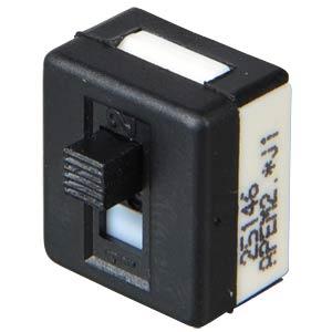Schiebeschalter, gerade, RM 2,54, 2x EIN - EIN APEM 25146NAH