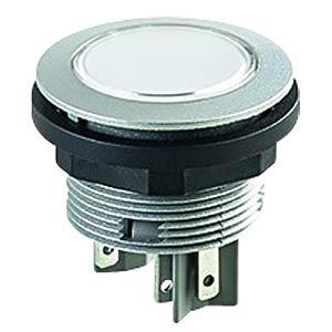 Drucktaster - 2 S, LED weiß, silber SCHLEGEL STLII