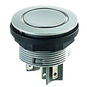 Drucktaster - 1 S, silber, LED-Ring rot SCHLEGEL STLRRI