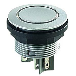 Drucktaster - 1 S + 1 Ö, silber, LED-Ring gelb SCHLEGEL STLRYOI
