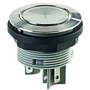 Drucktaster - 1 S, Edelstahl, LED-Ring blau SCHLEGEL SVATLRBI