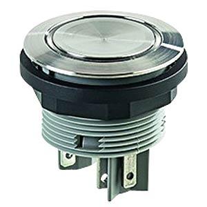 Drucktaster - 2 S, Edelstahl, LED-Ring blau SCHLEGEL SVATLRBII