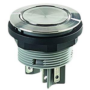 Drucktaster - 1 S, Edelstahl, LED-Ring grün SCHLEGEL SVATLRGI