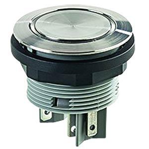 Drucktaster - 1 S + 1 Ö, Edelstahl, LED-Ring grün SCHLEGEL SVATLRGOI