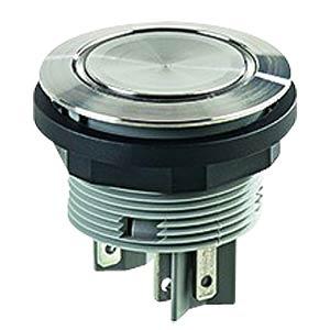 Drucktaster - 1 S + 1 Ö, Edelstahl, LED-Ring rot SCHLEGEL SVATLRROI