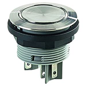 Drucktaster - 1 S + 1 Ö, Edelstahl, LED-Ring weiß SCHLEGEL SVATLRWOI