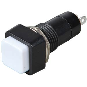 Pressure switch, 1 A/250 V, 1 x on, push button, white FREI