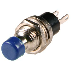 Miniature push button, ON 0.5 A, 24 VAC, blue FREI