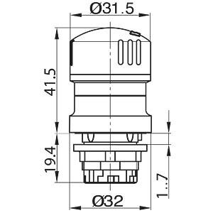 Emergency stop button, mounting Ø: 22.3 mm SCHLEGEL TA_QRUV