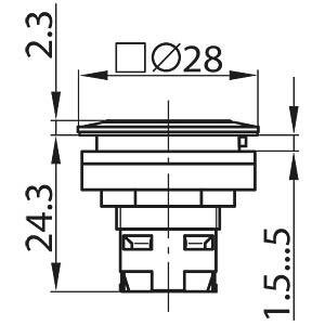 RONTRON-R-JUWEL, square 28 x 28 mm SCHLEGEL TA_RQJT